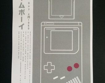 ゲームボーイ Game Boy Minimalist Print