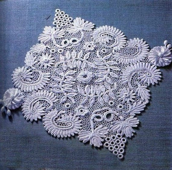 Irish Crochet Lace Motifs Free Patterns : irish crochet rugdetailed tutorialirish crochet