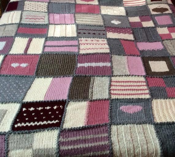 Coperta matrimoniale a maglia di lana pura non tinta per letto for Disegni di coperta inclusi