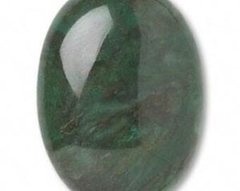 Quartz Cabochon, Green Quartz, Natural Gemstone, 30x22mm, 1 each, D554