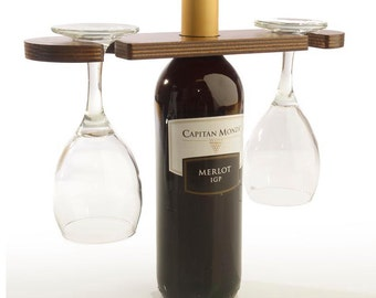 Glass & Bottle Wine Display (Pack x10)