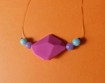 Necklace Polygon fuchsia