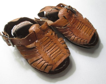 Baby Toddler Huarache Sandals size 3 Leather NEW brown