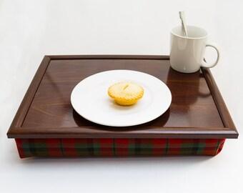 High Quality Gentleman's Tartan Bean Bag Beanbag Laptray Lap Tray Stable Table Bed Desk Serving Laptop