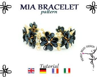 MIA BRACELET pattern with PIP beads, tutorial