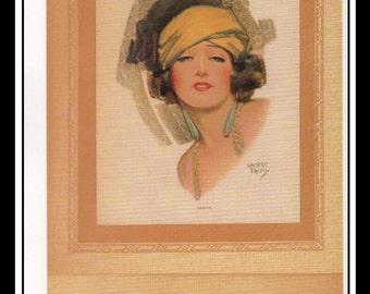 "George Petty Vintage Pinup Illustration Sexy Pinup 1926 Vesta Calendar Mature Wall Art Deco Book Print Small 5 1/2"" x 9"""