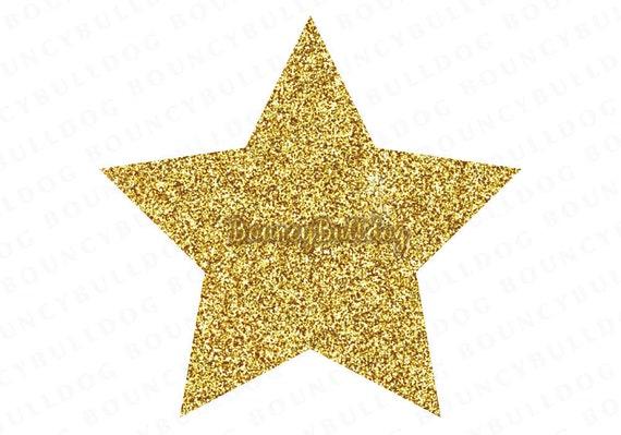 Glitter Star Clipart Digital Stars Scrapbook Clipart Star
