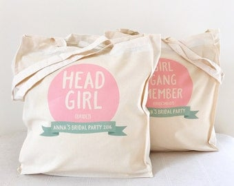 Personalised Bridal Party Tote Bag Bundle