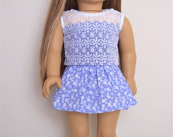 American Girl Doll Clothes Floral skirt