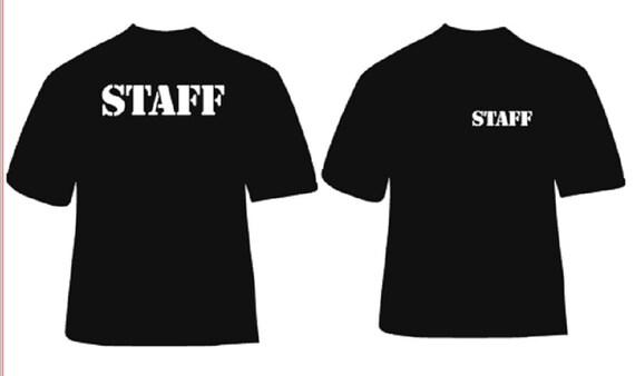 Event tee shirt design iron on staff shirt design party for Event staff shirt ideas