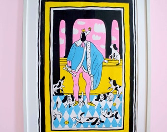 King Of Dogs BIG Handpulled Screen Print