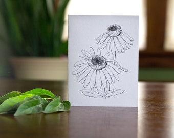 Shasta Daisy Hand Drawn Blank Card