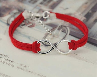 SALE Infinity Leather Bracelet//Friendship Jewelry