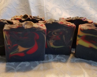 Activated Charcoal Soap, Natural Soap, Cold Process Soap, Charcoal Soap, Fragrant Soap, Moisturizing Soap, Handmade Soap