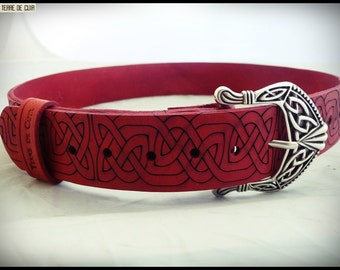 Celtic style belt - croupon vegetable tanned leather