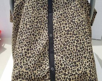 Leopard  Car Seat Cover. car seat Canopy. black and brown. cheetah. animal print.