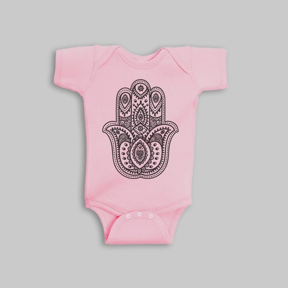 Baby Girl Clothes hamsa hand yoga baby girl romper baby
