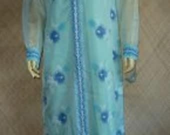 1960's Alfred Shaheen Full Length Dress