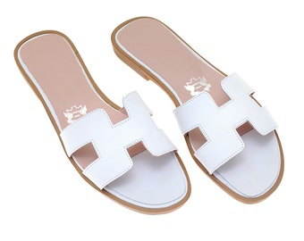 White handmade sandals H
