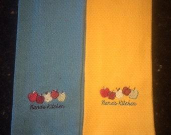 Custom kitchen dish towels