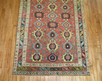 Antique Persian Or Kurdish Bidjar Rug Size 3'10''x8'1''