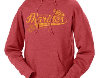 USMC Marines Script Retro Marine Corps Sweatshirts Hoodies Red m l xl 2xl