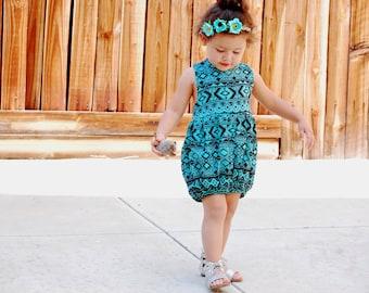 Aztec Romper//baby romper// toddler romper//summer