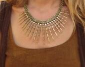 Ethnic Tribal Necklace, Banjara Necklace, Indian Necklace, Kuchi Jewellery, Gypsy Necklace, Brass Necklace, Statement Necklace