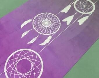 Native American Yoga Mat - Eco Friendly - Biodegradable dream catcher yoga mat