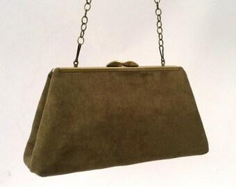 Green Suede Handbag