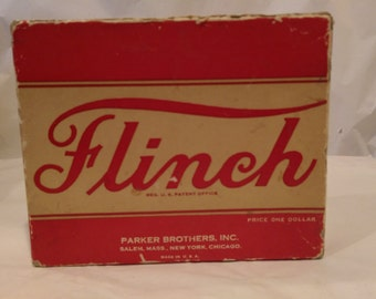 Flinch card game from Parker Brothers made in 1938