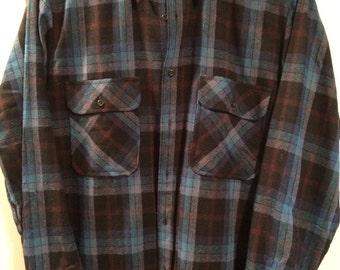 Vintage Sears Wool Shirt size M