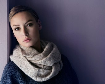 Isager yarn, knitting kit, Helga Isager, Amimono, cowl, silk mohair - The Shetland cowl
