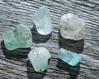 Colorful bonfire sea glass Small bonfire sea glass Tumbled glass home decor Naturally jewelry supply Fire sea glass Collectible / 5 pcs