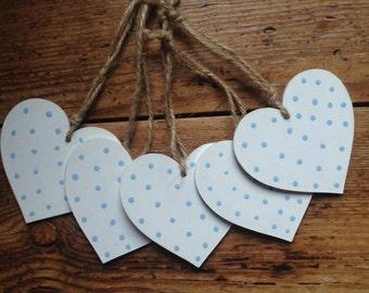 Wooden Hanging Hearts, Handpainted, Home Decor, Shabby Chic, Garden Decor,