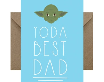 Yoda Best DAD - Fathers Day Card - Star Wars