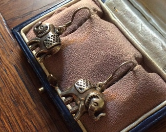 VERY NICE VINTAGE Earrings - sterling silver-3D - hand made - original Design!