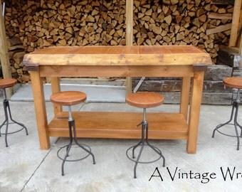 Industrial style stools/adjustable height stools/counter height stools/urban industrial/modern industrial
