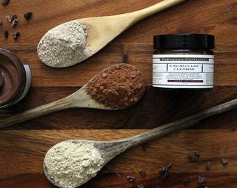 CACAO CLAY Cleanse | For all skin types | Natural |ORGANIC | Face Mask | Clay Cleanser