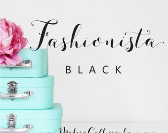 Fashionista Black Modern Calligraphy Script Font Commercial Download