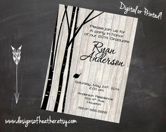Black Birch Graduation Announcement