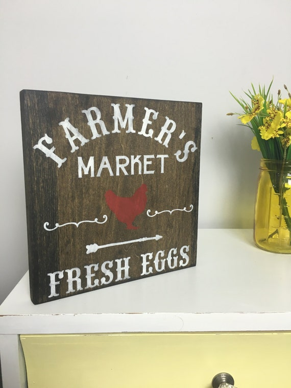 Farmer 39 s market sign farmhouse sign farm sign rustic for Decor market reviews