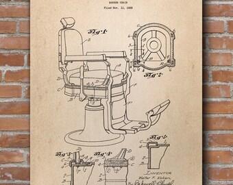 Barber Chair Patent Print, Barber Chair Patent, Barber Shop Decor, Barber Poster - DA0446