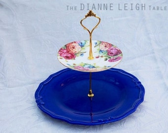Beautiful 2 tier stand, two tier cake stand, cupcake stand, centerpiece, jewelry organizer, gift