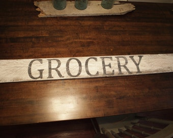 Rustic Grocery Sign