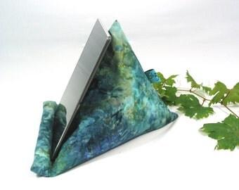 Batik fabric~Ipad-Iphone stand~Ipad pillow~Ipad cushion~Tablet pillow~Mobile Device  support~Kindle~E-reader~Cotton fabric~Design No10