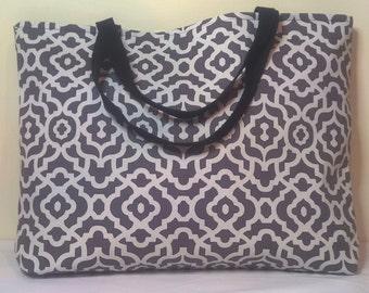 Tote Bag, Handmade Tote Bag, Lined Tote Bag, Canvas Bag, Carry All Bag, Beach Bag, Large Tote Bag, Tote, Fabric Tote Bag