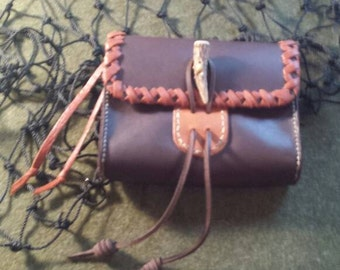 Dark Brown Oil-Tanned Leather Belt Pouch