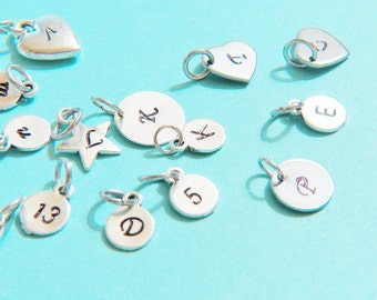 Personalized Charm,Initial Charm,Name Charms,stamped letter, letter charm , Personalized Necklace, Initial Necklace, Initial Charm, Monogram
