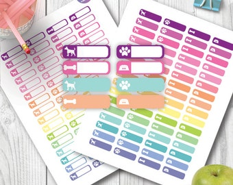 Pet Dog Icon Printable Planner Stickers Functional Stickers, Appointment Stickers for Erin Condren, Happy Planner, Plum Planner, Kikki K